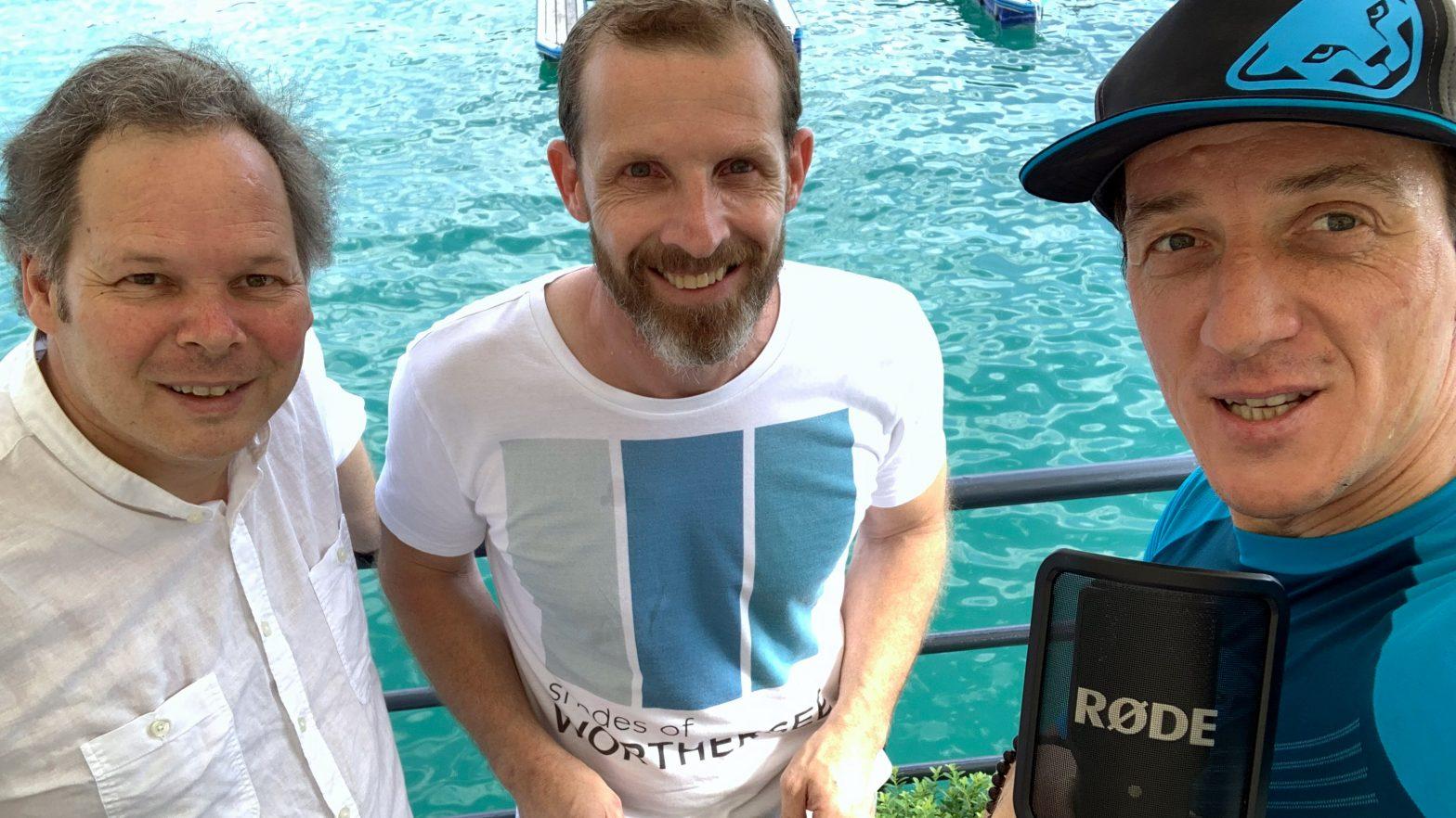 Georg, Roland und Daniel am See