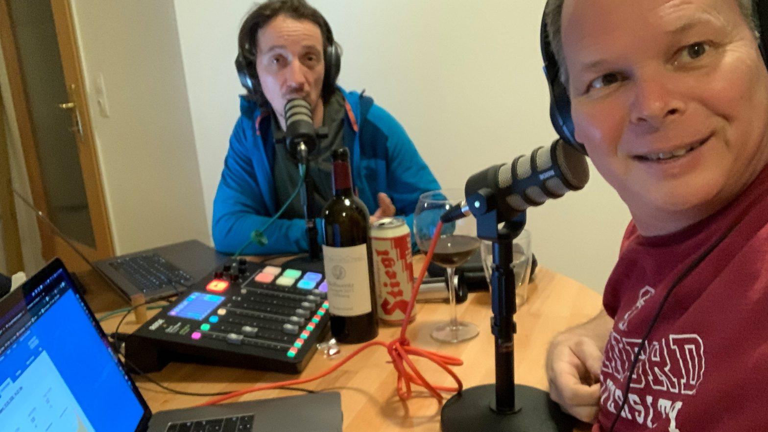 Daniel und Georg beim Podcasten