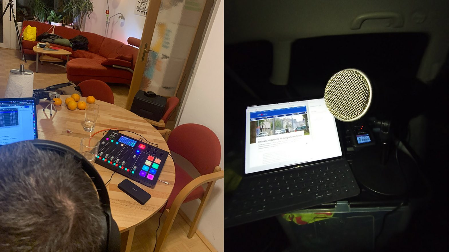 Georg und Danikel beim Podcasten